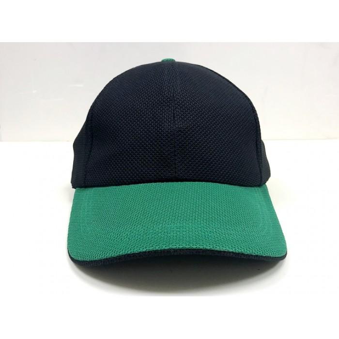 透氣網帽-綠眉黑頂