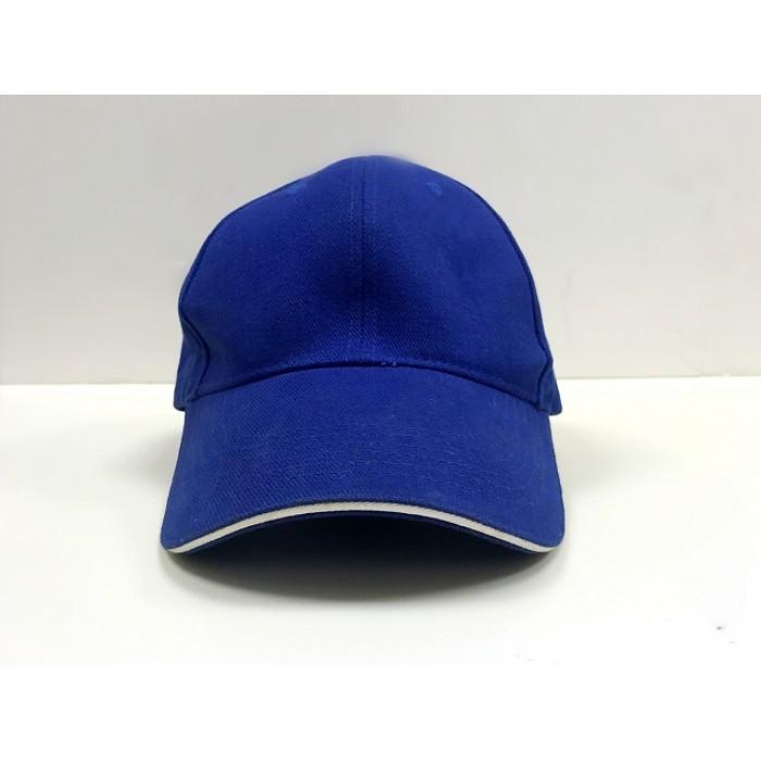 純棉帽-三明治(藍眉藍頂)