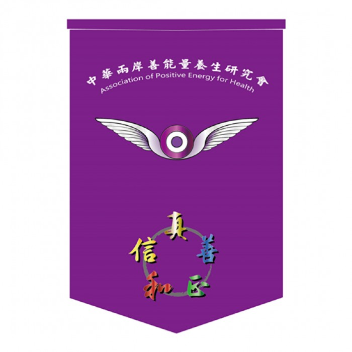 頒獎錦旗-中華兩岸能量養生研究會