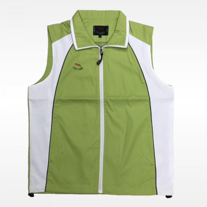 外套背心(紅螞蟻)-果綠白底果綠領