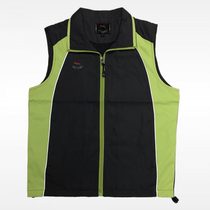 外套背心(紅螞蟻)-灰綠底灰領