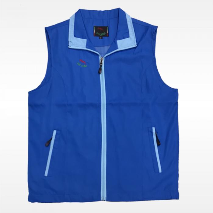 外套背心(紅螞蟻)-藍底水藍領