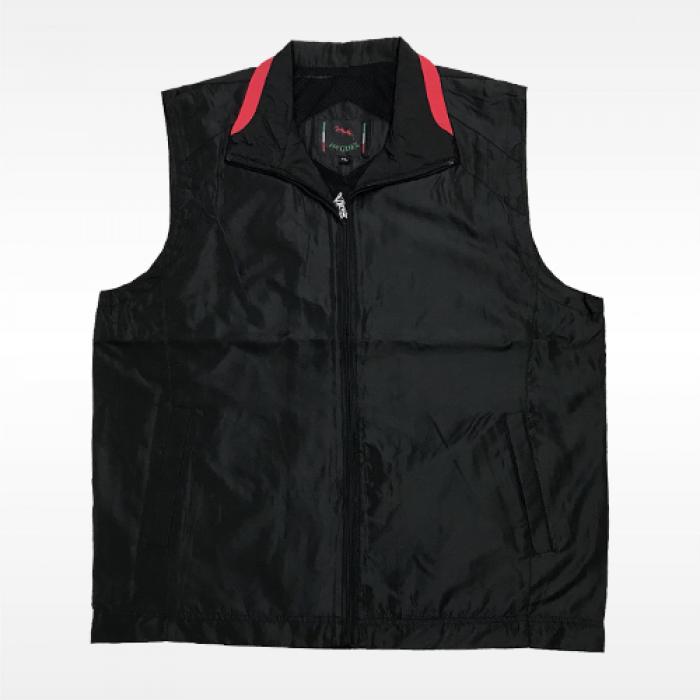 外套背心(紅螞蟻)-黑底紅領
