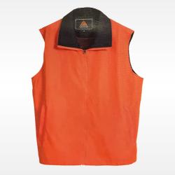 外套背心-橘底藍領